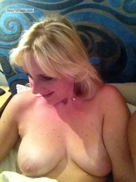 Tit Flash: Medium Tits By IPhone - Amy from United Kingdom